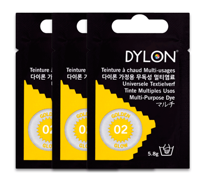 Dylon Golden Glow Multi-Purpose Dye 5g (pack of 3)