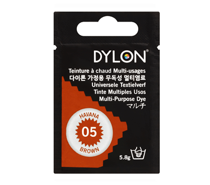 Dylon Havanna Brown Multi-Purpose Dye 5g (pack of 3)