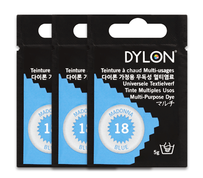 Dylon Madonna Blue Multi-Purpose Dye 5g (pack of 3)