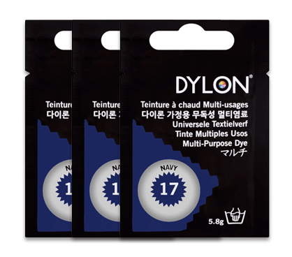 Dylon Navy Blue Multi-Purpose Dye 5g (pack of 3)