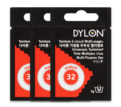 Dylon Scarlet Red Multi-Purpose Dye 5g (pack of 3)
