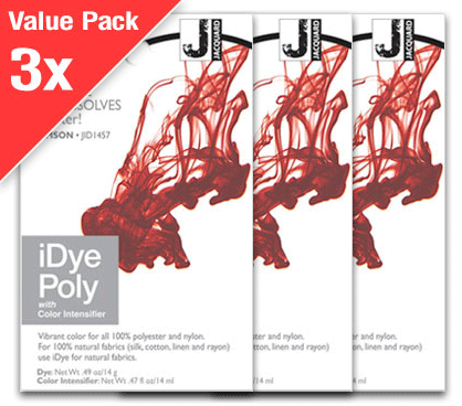 IDye Poly Crimson Red (3x Value Pack)
