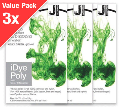 IDye Poly Kelly Green (3x Value Pack)