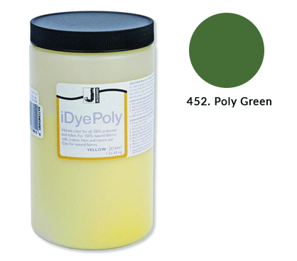 Bulk IDye Poly Green Fabric Dye (1lb / 450g)