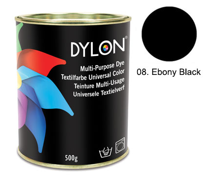 Dylon Ebony Black Multi-Purpose Dye 500g