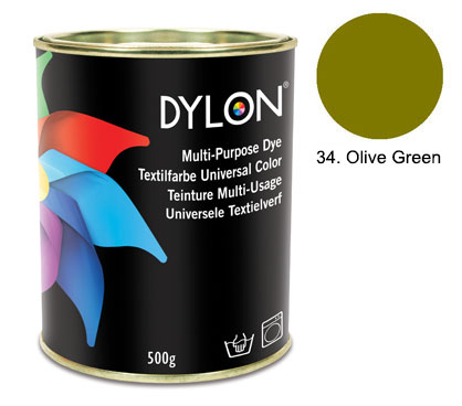 Dylon Olive Green Multi-Purpose Dye 500g