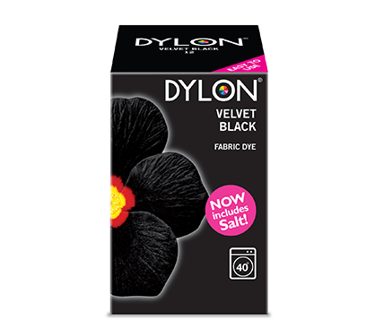 Dylon Velvet Black Fabric Dye