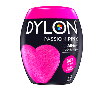 DYLON Passion Pink All-In-1 Fabric Dye Pod 350g