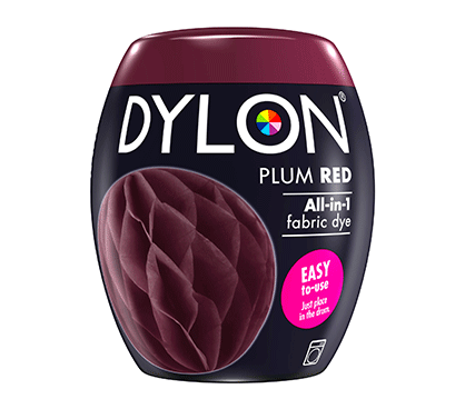 DYLON Plum Red All-In-1 Fabric Dye Pod 350g